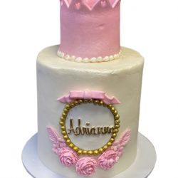 Pink birthday cakes, pink crown graduation cakes, custom cakes in dallas,