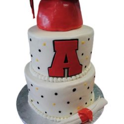 Simple Dots Grad Cake, Graduation Cakes Dallas, Fort Worth Bakery