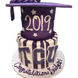 TCU Graduation Cake, Dallas Graduation Cakes, Fort Worth Bakery, Custom Cakes in Arlington, That's The Cake