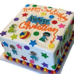 Rugrats Cake, birthday cakes in arlington, custom cakes in dallas, kids birthday cakes