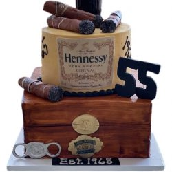 Hennessy Cake, Dallas Bakery, That's The Cake Bakery, 55th Birthday Cakes, Cigar Cakes