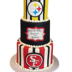 Football NFL cakes, fort worth bakery, Steelers Cake, Giants Birthday Cake