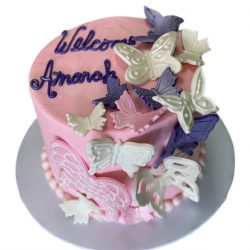 Butterflies Birthday Cake, Dallas Cakes, Fort Worth Cakes, Fort Worth Bakery, Girls Birthday Cake