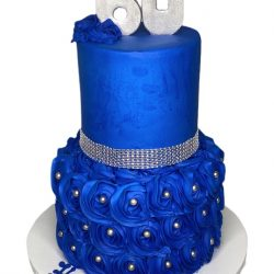 60th birthday cakes, royal blue cakes, birthday cakes, dallas cakes, fort worth cakes