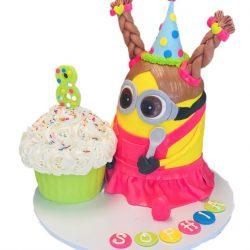 Minion Birthday Cake, 8th birthday cakes, arlington bakery, custom cakes for girls, dallas bakery
