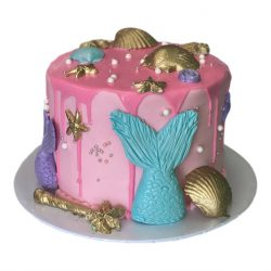 small mermaid cakes, custom birthday cakes, girl birthday cakes, dallas bakery, fort worth bakery