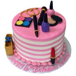 pink makeup cakes, birthday cakes for girls, 16th birthday cakes, dallas fort worth bakery
