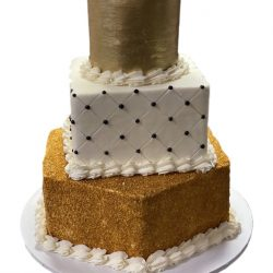 gold birthday cakes, gold cakes, quilted cakes, wedding cakes, custom party cakes, dallas bakery, fort worth cakes, arlington bakery
