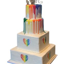 LGBTQ Wedding Cakes, Rainbow wedding cakes, custom cakes in dallas, gay wedding cakes, thats the cake, dallas bakery