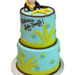 monkey theme baby shower cake, baby shower cakes dallas, custom cakes fort worth, thats the cake