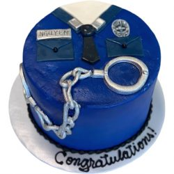 police officer cakes, dallas cakes, graduation cakes, police academy cakes