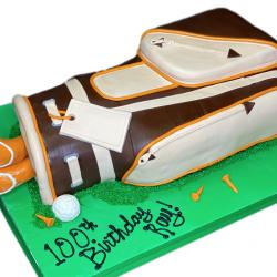 Golf Bag, 3D Golf bag, birthday cakes, dallas bakery, custom bakery, that's the cake, sugar bee sweets, london baker