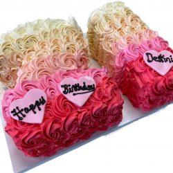 ombre rosettes sheet cake, birthday cakes dallas, 21st birthday cakes