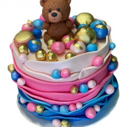 Gender Reveal Bear Cake | Baby Shower Cakes | Dallas | Fort Worth