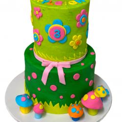 Simple Trolls Birthday Cake | Arlington Bakery, Dallas Bakery, Fort Worth Cakes, Custom Cakes, Loft22 Cakes, SweetThingsDFW