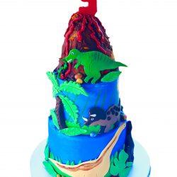 Dinosaur Birthday Cake | Dallas Bakery | Arlington Bakery | That's The Cake | Custom Cakes | Dinosaurs