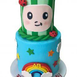 Coco Melon Rainbow Cakes | Rainbow cakes, dallas cakes, arlington bakery | That's The Cake