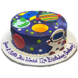Space Birthday Cake   12th birthday cakes   Space cakes   Dallas Bakery   Fort Worth Cakes   That's The Cake