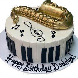 Saxophone Birthday Cake   That's The Cake   Custom Birthday Cakes   Dallas Bakery