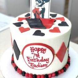 harley quinn cakes, small birthday cakes
