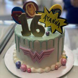 wonderwoman 16th birthday cake