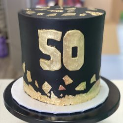 50th Birthday Cake - Gold and Black Cakes   Birthday Cake in Dallas