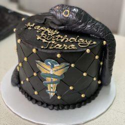 black mamba cakes, kobe bryant cakes