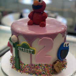 elmo cakes, sesame street cakes, birthday cakes dallas, fort worth bakery