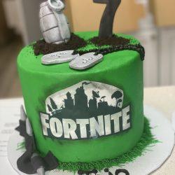 Fortnight Green, Birthday Cake, Fortnite Birthday Cakes
