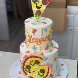 pizza party cake, birthday cakes in dallas, custom cakes arlington