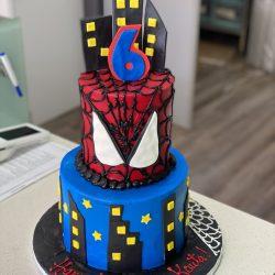 Spiderman & City Birthday Cake - Custom Birthday Cakes   That's The Cake Bakery