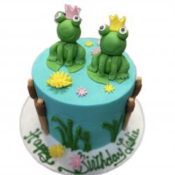 Frog cake, frog birthday cake, custom cakes in dallas