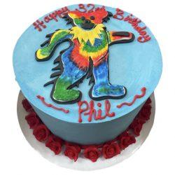 grateful dead birthday cakes, arlington bakery, that's the cake