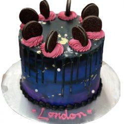 oreo cake, galaxy cake, birthday cakes, dallas bakery, arlington fort worth