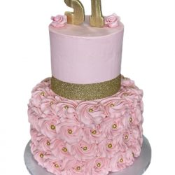 Pink & Gold Cake   Birthday Cakes   Rosettes Cake   Birthday Cakes   That's The Cake