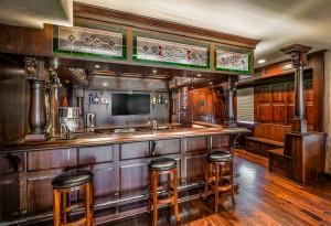 The Artisan Shop, Inc. Irish home bar, clear select white oak