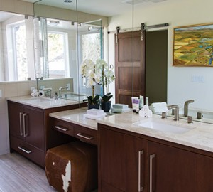 Custom cabinets in a beautiful bathroom
