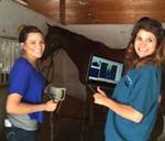 Dr. V with Amanda, Vet Tech