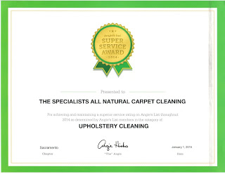 2014 Angieslist Upholstery Cleaning