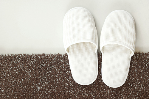 slippers on carpet