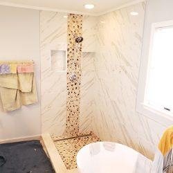 Setting up custom glass shower doors in Maryland