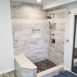 Getting ready to install custom glass shower doors