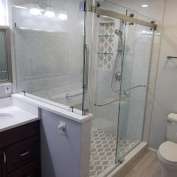 Glass doors for a shower in Maryland