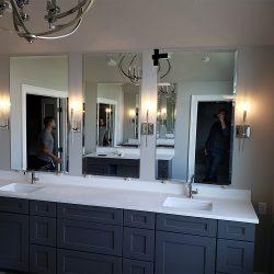 Custom residential mirror and custom glass fabrication in Maryland