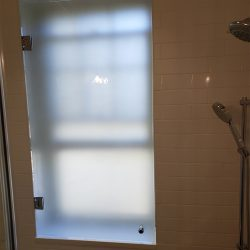 Custom glass partition for a shower in Maryland