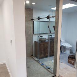 Large custom glass shower doors
