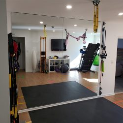 Large custom mirrors for a gym