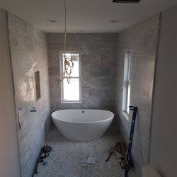 Installing custom glass shower doors