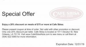 cafe sbisa new orleans