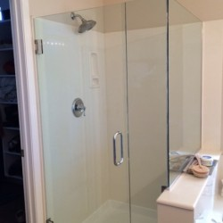 Clear glass shower